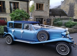 Blue Beauford for wedding hire in Barnsley